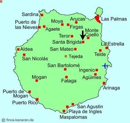 Gran Canaria Karte Santa Brigida