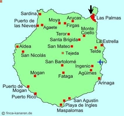 gran canaria karte Gran Canaria Hauptstadt Karte
